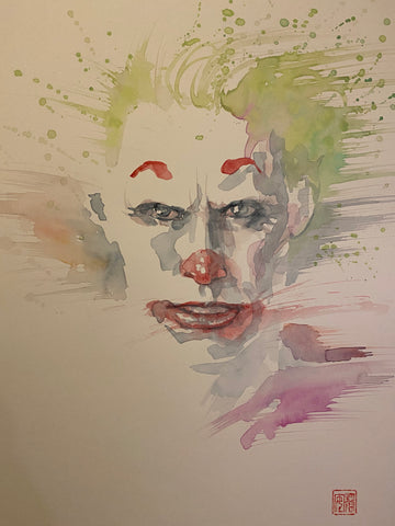 David Mack Original Art Joker Movie Illustration 2