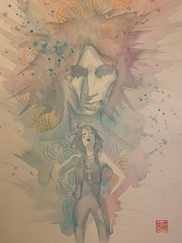 David Mack Original Art Dream & Death Illustration
