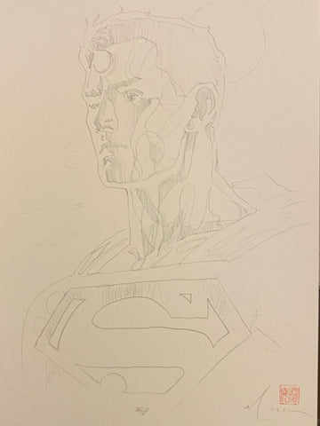 David Mack Original Art Action Comics #1003 Pencil Prelim