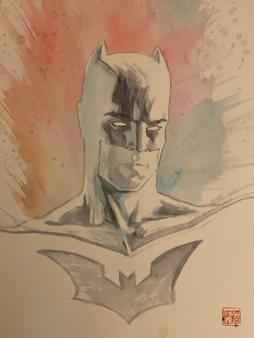 David Mack Original Art Batman Illustration