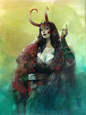 Alex Maleev Original Art Lady Loki Illustration