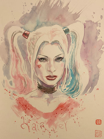 David Mack Original Art Harley Quinn Illustration