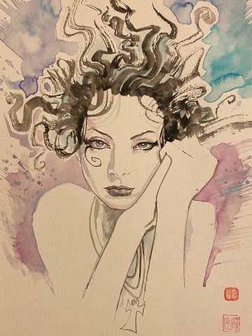 David Mack Original Art Death Sandman Illustration