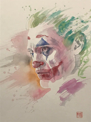 David Mack Original Art Joker Film Illustration