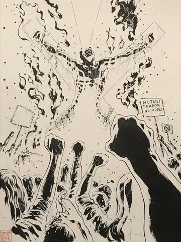 David Mack Original Art All-New X-Men #25 Inked Page