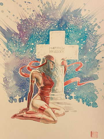 David Mack Original Art Daredevil End of Days Illustration