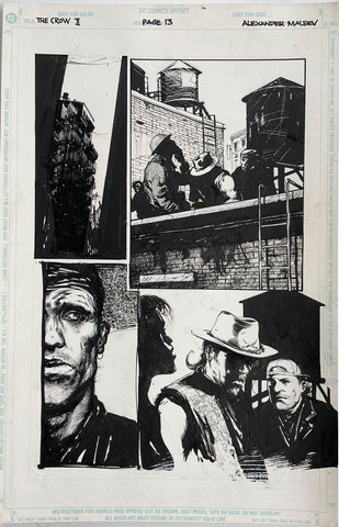 Alex Maleev Original Art Crow (1990's) Page Reference 47