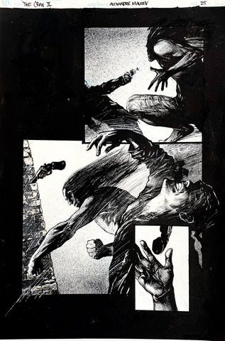 Alex Maleev Original Art Crow (1990's) Page Reference 48