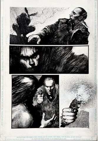 Alex Maleev Original Art Crow (1990's) Page Reference 49