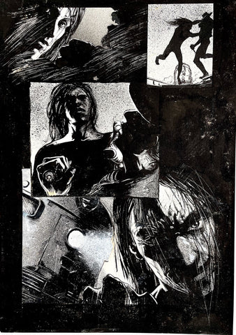 Alex Maleev Original Art Crow (1990's) Page Reference 50