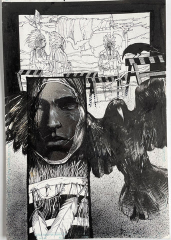 Alex Maleev Original Art Crow (1990's) Page Reference 52