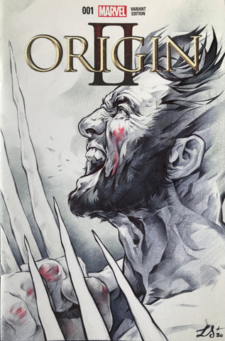 Stephanie Lavaud Original Art Wolverine Blank Cover Illustration
