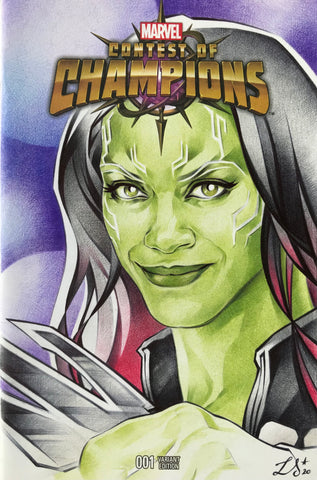 Stephanie Lavaud Original Art Gamora Blank Cover Illustration