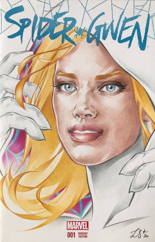 Stephanie Lavaud Original Art Spider-Gwen Blank Cover Illustration
