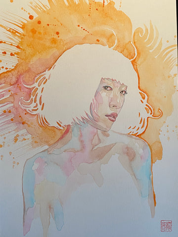 David Mack Original Art Pearl Cover