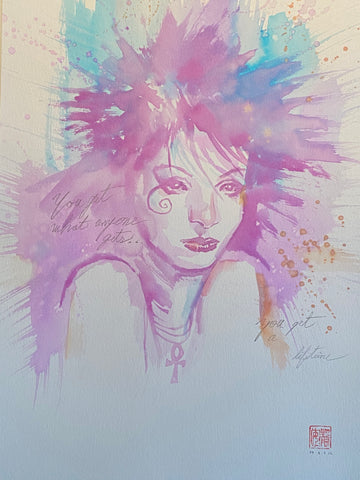 David Mack Original Art Death Illustration