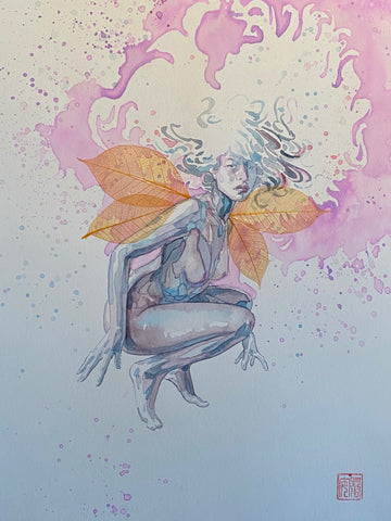 David Mack Original Art Fairy From Jim Henson Labyrinth Art Book