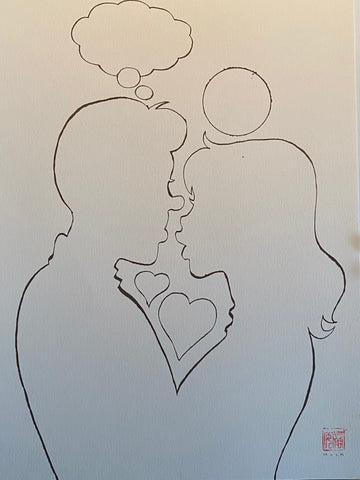 David Mack Original Art Archie: Married Life: 10th Anniversary Cover Silhouette