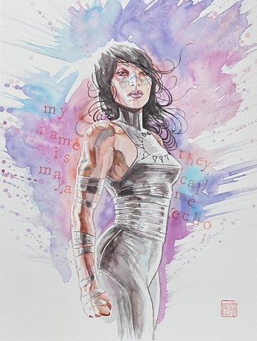 David Mack Original Art Echo Illustration