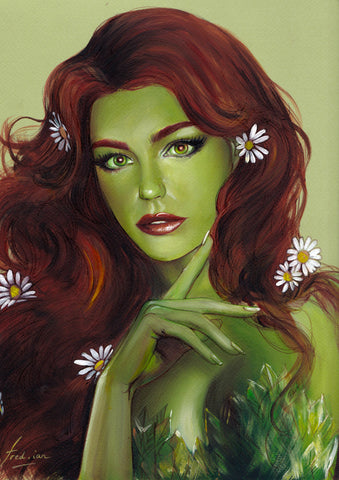 Fred Ian Original Art Poison Ivy Oil Painted Illustration