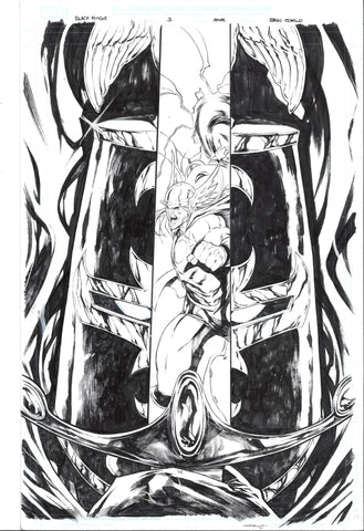 Iban Coello Original Art Black Knight #3 Cover