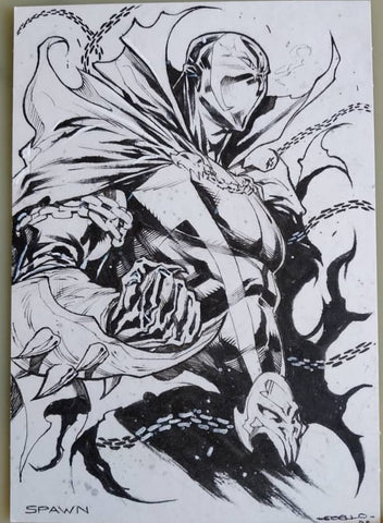 Iban Coello Original Art Spawn Fan Art Challenge Illustration