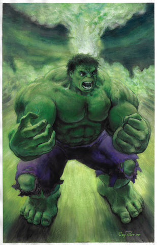 Casey Parsons Original Art Hulk Illustration