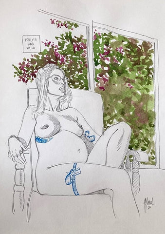 Guillem March Original Art Inside Summer Muse 2 Book Carlota 2