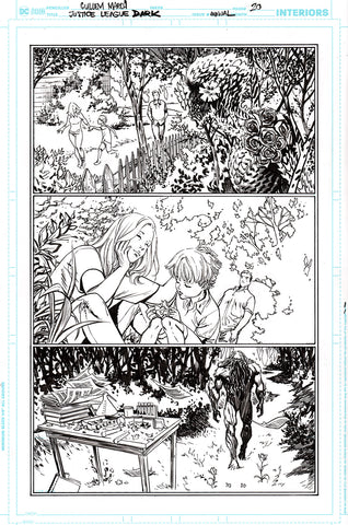 Guillem March Original Art Justice League Dark #1 Page 20