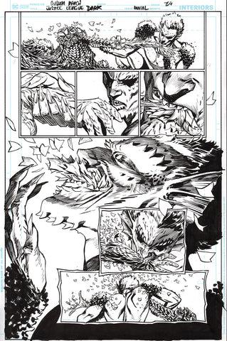 Guillem March Original Art Justice League Dark #1 Page 34