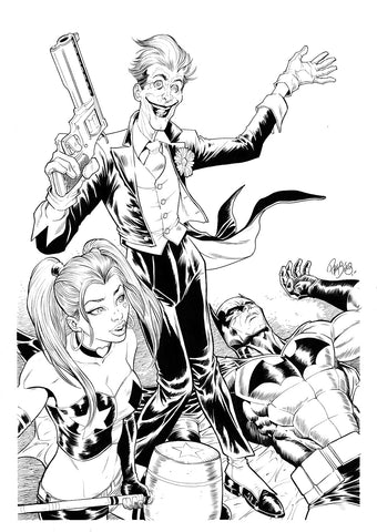 Paco Diaz Original Art Joker Smile Collection