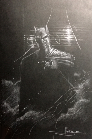 Javier Fernandez Original Art Batman Illustration Inside Detective Comics Hardcover