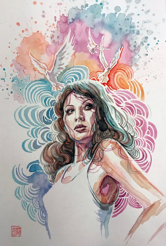 David Mack Original Art Jessica Jones (Comics Version) Illustration