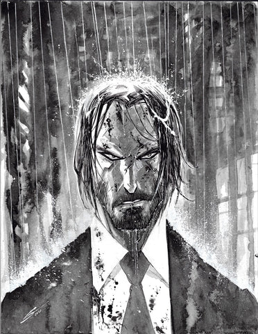 Gerardo Sandoval Original Art John Wick Fan Art Challenge Illustration