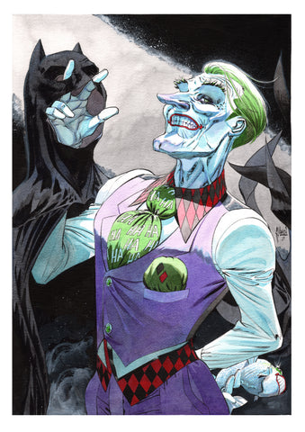 Guillem March Original Art Joker Smile Collection