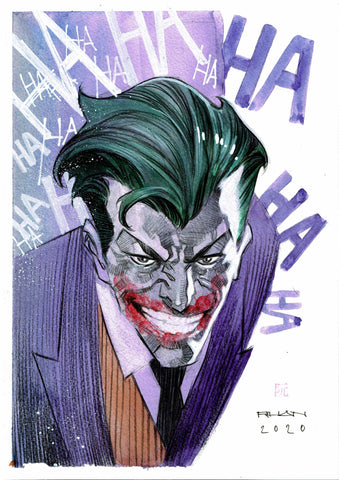 Dike Ruan Original Art *New Collection* Joker Illustration