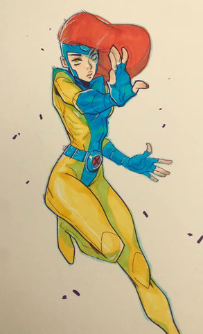 Jon Lam Original Art Jean Grey Illustration