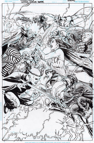 Guillem March Original Art Justice League Dark #15 Cover