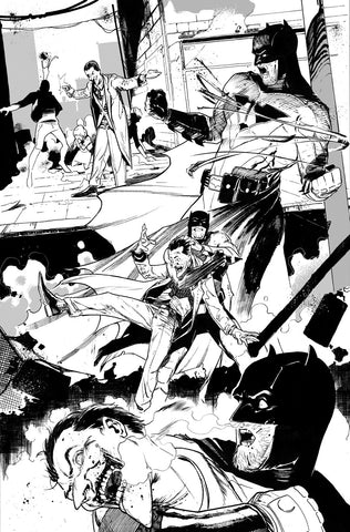 Javier Fernandez Original Art Dark Multiverse: Batman Knightfall #2 Page 2