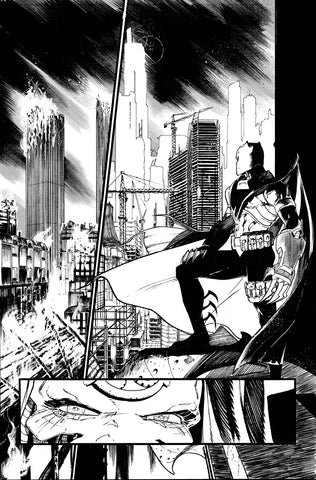 Javier Fernandez Original Art Dark Multiverse: Batman Knightfall #1 Page 8