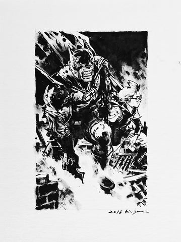 Kim Jung Gi Original Art Batman Illustration