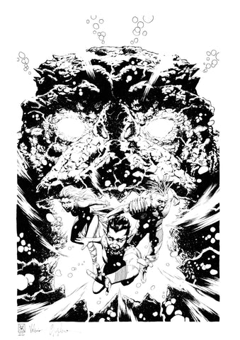 Valerio Giangiordano Original Art King in Black Namor #4 Cover
