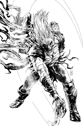 Valerio Giangiordano Original Art King in Black #1 Knull Cover
