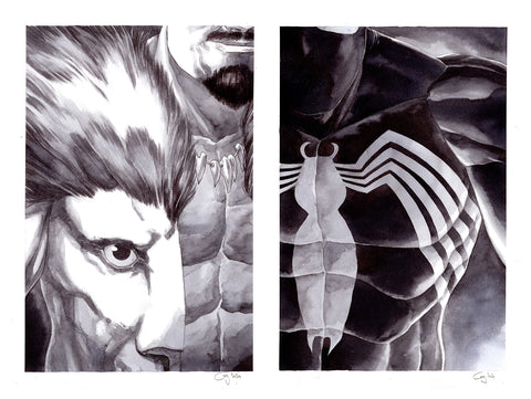 Guillaume Martinez Original Art Spider-Man: Kraven's Last Hunt Set Illustrations