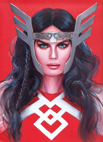 Fred Ian Original Art Lady Sif Oil Painted Illustration