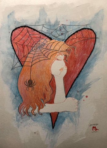 Zu Orzu Original Art Whimsical Mary Jane