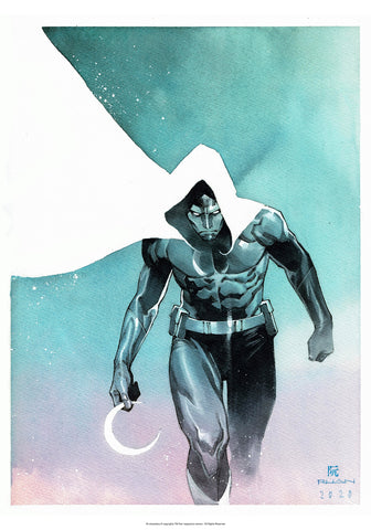 "Dike Ruan Moon Knight 14x20"" Limited Edition Giclee"