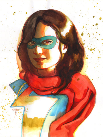 Clara Tessier Original Art Ms Marvel Illustration