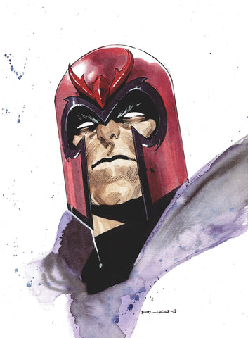 Dike Ruan Original Art Magneto A4 Painted Illustration