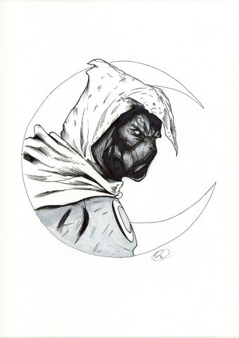Doaly Original Art Moon Knight Sketch